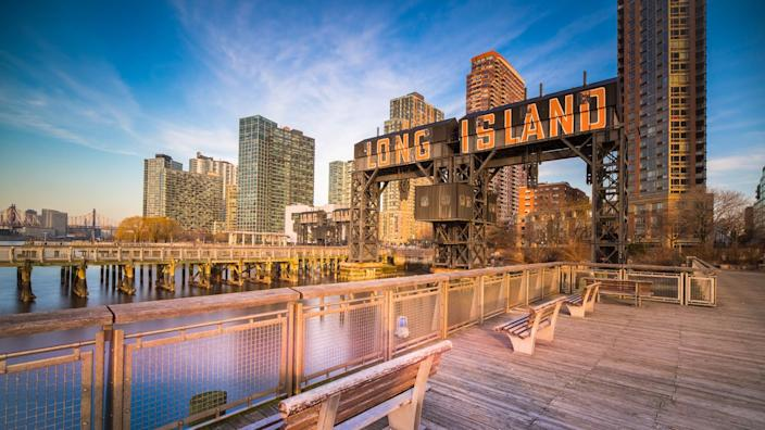 Long Island City, Famous Place, River, Skyscraper, USA.