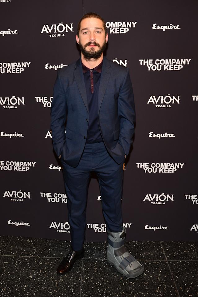 """NEW YORK, NY - APRIL 01:  Actor Shia LaBeouf attends """"The Company You Keep"""" New York Premiere at The Museum of Modern Art on April 1, 2013 in New York City.  (Photo by Larry Busacca/Getty Images)"""