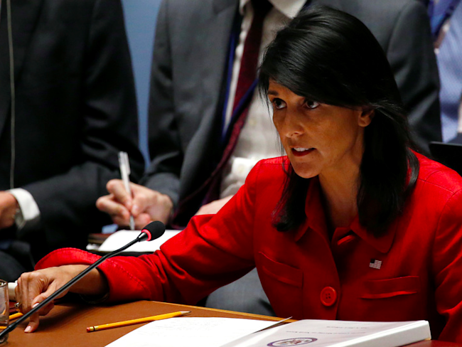 Amb. Nikki Haley slams N. Korea missiles report retweeted by Donald Trump