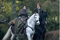 """<p>And the two are tired of fans <a href=""""http://people.com/tv/outlander-sam-heughan-and-caitriona-balfe-address-dating-rumors/"""" rel=""""nofollow noopener"""" target=""""_blank"""" data-ylk=""""slk:assuming they're dating."""" class=""""link rapid-noclick-resp"""">assuming they're dating.</a> Balfe is married to music producer Tony McGill. Heughan is rumored to be dating actress Amy Shiels.</p>"""