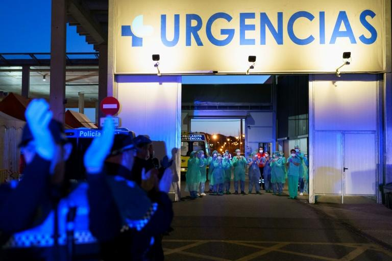 Many medical staff in Spain are close to breaking point because large numbers of them have fallen sick