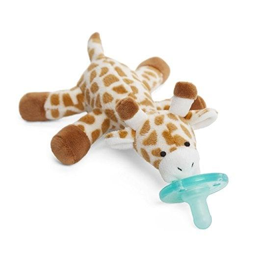 """<p>Not only does this <a href=""""https://www.popsugar.com/buy/WubbaNub-Pacifier-86127?p_name=WubbaNub%20Pacifier&retailer=amazon.com&pid=86127&price=17&evar1=moms%3Aus&evar9=45632058&evar98=https%3A%2F%2Fwww.popsugar.com%2Ffamily%2Fphoto-gallery%2F45632058%2Fimage%2F45632223%2FWubbaNub-Pacifier&list1=shopping%2Camazon%2Cbaby%20showers%2Cbaby%20shower%20gifts%2Cnew%20parents%2Ckid%20shopping%2Cbaby%20shopping%2Cgifts%20for%20babies%2Cbest%20of%202019&prop13=mobile&pdata=1"""" rel=""""nofollow"""" data-shoppable-link=""""1"""" target=""""_blank"""" class=""""ga-track"""" data-ga-category=""""Related"""" data-ga-label=""""http://www.amazon.com/WubbaNub-22352-Infant-Pacifier-Giraffe/dp/B003CK3LDI/ref=sr_1_1?s=baby-products&amp;ie=UTF8&amp;qid=1427314638&amp;sr=1-1"""" data-ga-action=""""In-Line Links"""">WubbaNub Pacifier</a> ($17) look cute, but it also act as a weight, which means you'll be popping that paci back in a lot less.</p>"""