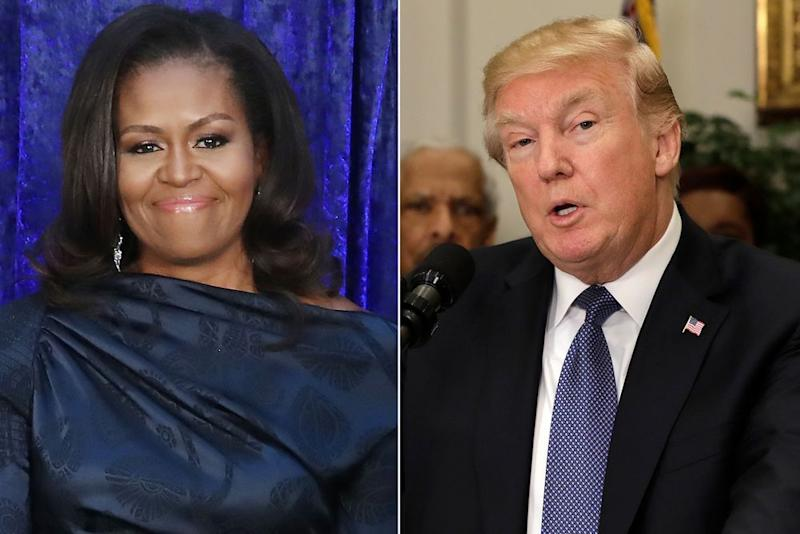 Michelle Obama and Donald Trump | Mark Wilson/Getty Images; Yuri Gripas/Bloomberg via Getty Images