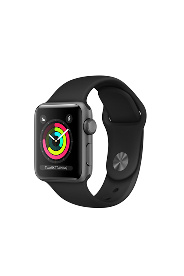"""<p><em>Apple, $329</em></p><p><a rel=""""nofollow"""" href=""""https://www.apple.com/shop/buy-watch/apple-watch/space-gray-aluminum-black-sport-band"""">SHOP IT</a></p><p>The newest waterproof Apple Watch Series 3 allows you to make phone calls and texts without your phone next to you - especially useful for the girl who quickly finds her schedule packed with meetings.</p>"""