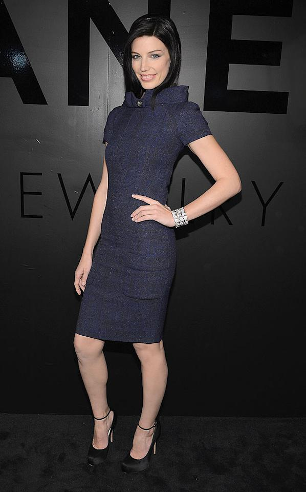 Jones' co-star, Jessica Pare, also hit the bash, which celebrated the 80th anniversary of the Bijoux De Diamants fine jewelry collection, created by Gabrielle Chanel. The event took place outside the Museum of Modern Art, under a dome that will begin displaying Chanel's 1932 collection beginning this week. (10/9/2012)