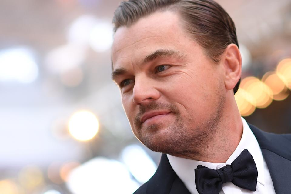 US actor Leonardo DiCaprio arrives for the 92nd Oscars at the Dolby Theatre in Hollywood, California on February 9, 2020. (Photo by VALERIE MACON / AFP) (Photo by VALERIE MACON/AFP via Getty Images)