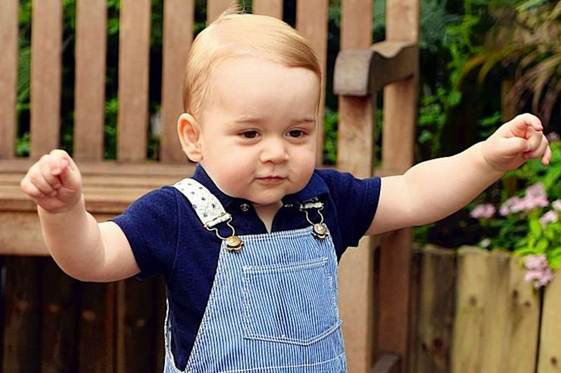 Prince George celebrates his first birthday at the Natural History Museum in 2014