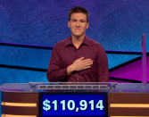 """<p>His run may be ongoing, but Holzhauer's success has already drawn praise from other """"Jeopardy!"""" legends. Ken Jennings <a href=""""https://www.usatoday.com/story/life/tv/2019/04/22/jeopardy-winner-james-holzhauer-ken-jennings-record-speaks-out/3537576002/"""" rel=""""nofollow noopener"""" target=""""_blank"""" data-ylk=""""slk:said"""" class=""""link rapid-noclick-resp"""">said</a> he was """"gobsmacked"""" by the professional gambler hitting jackpot night after night. Holzhauer's single-game record, $131,127, is an all-time """"Jeopardy!"""" best and he occupies every spot in the Top 5 list for that category.</p>"""