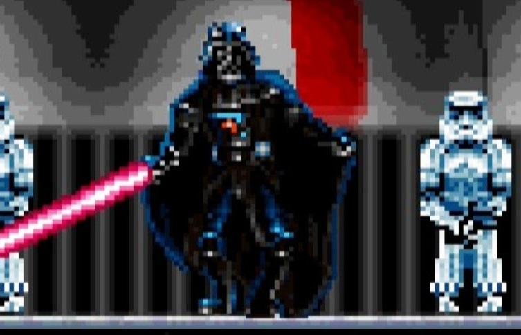 Darth Vader in 16 bit form (credit: John Stratman)