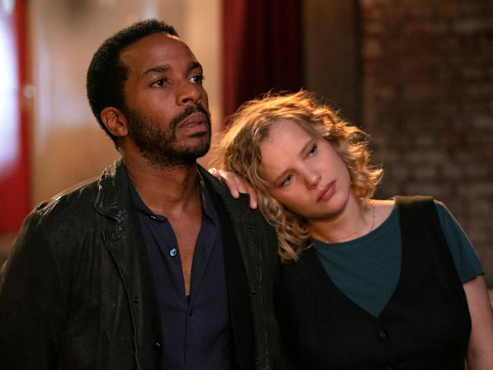 "André Holland and Joanna Kulig costar in ""The Eddy."""