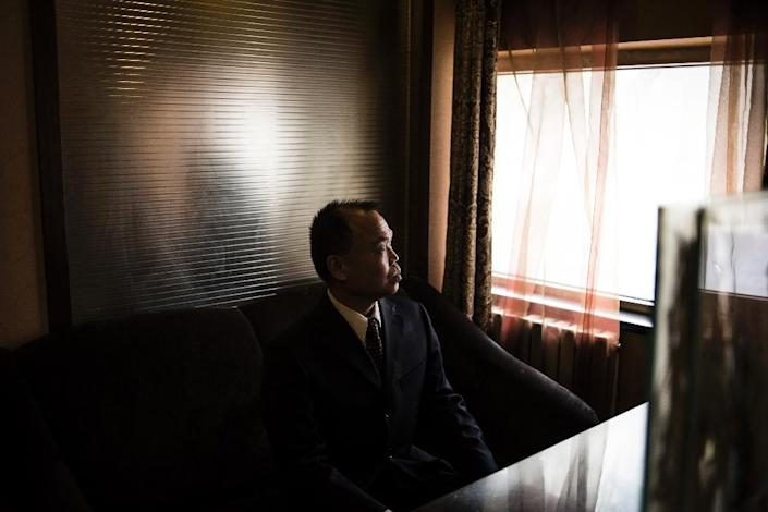 Chinese human rights lawyer Yu Wensheng said Fengrui law firm stirred the Communist Party's greatest fear -- organised dissent (AFP Photo/Fred Dufour)