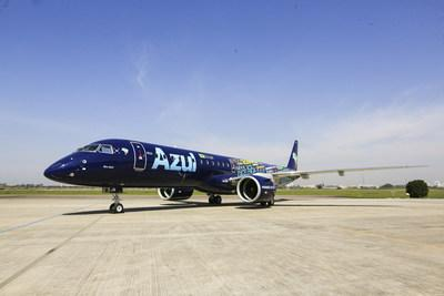 Pratt & Whitney joins Azul today in celebrating the delivery of the first Embraer E195-E2 aircraft, leased through AerCap and powered exclusively by Pratt & Whitney GTF engines.