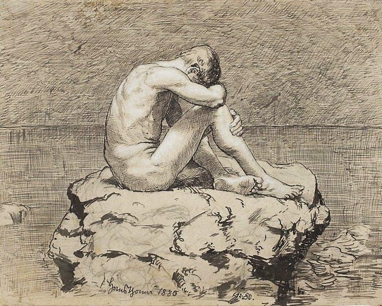 """<span class=""""caption"""">Loneliness, Hans Thoma, 1880.</span> <span class=""""attribution""""><a class=""""link rapid-noclick-resp"""" href=""""https://en.wikipedia.org/wiki/File:Thoma_Loneliness.jpg"""" rel=""""nofollow noopener"""" target=""""_blank"""" data-ylk=""""slk:National Museum in Warsaw, Wikimedia Commons"""">National Museum in Warsaw, Wikimedia Commons</a></span>"""