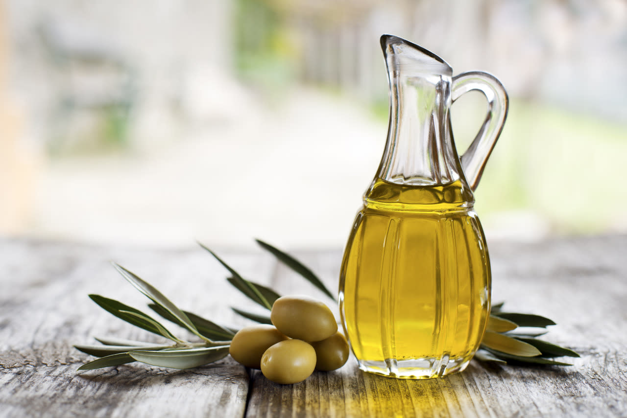 "<p>That olive oil you use to dress your salads is probably not the real McCoy. To cut costs, producers may cut olive oil with cheaper soybean, sunflower or peanut oils, which can be deadly to anyone who's allergic. What's worse, you won't see these ingredients on the label.</p><p>Olmsted suggests looking for the international EVA and UNAPROL labels to make sure your EVOO is the real deal. <i>[Photo: Getty/<a href=""http://www.gettyimages.ca/search/photographer?photographer=dulezidar&excludenudity=true&family=creative&license=rf&page=1&phrase=olive+oil&sort=best"">dulezidar</a>]</i></p>"
