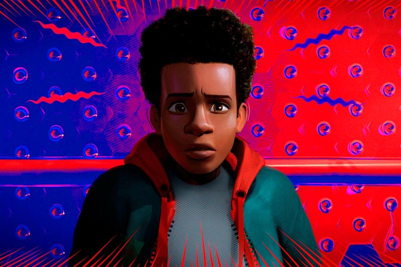 Miles Morales, voiced by Shameik Moore, in a scene from 'Spider-Man: Into the Spider-Verse': Sony Pictures Animation via AP