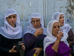 "<span class=""caption"">Druze women in Isfiya, one of the largest Druze villages in Israel.</span> <span class=""attribution""><span class=""source"">Shutterstock</span></span>"