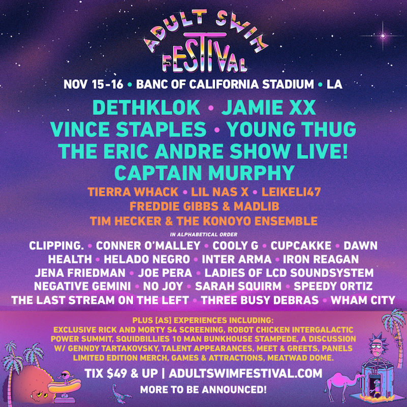 Adult Swim Festival 2019 giveaway tickets