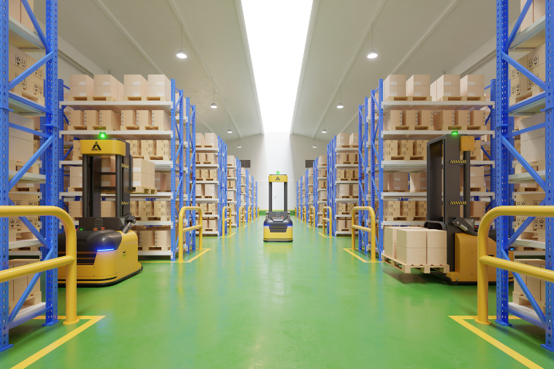 Logistics Warehouse with Forklift