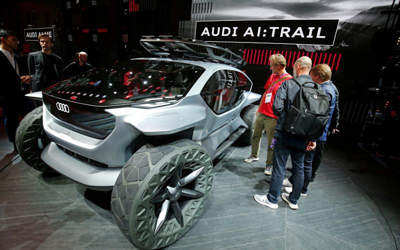 Audi unveiled its AI:Trail concept car at this year's Frankfurt show. Whether anything like it will go into production remains to be seen.  - REUTERS