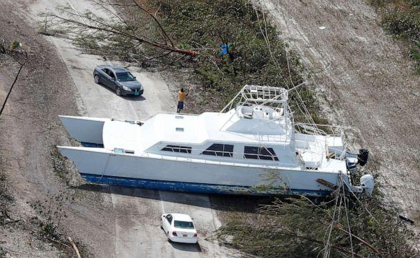PHOTO: A boat tossed into the middle of a roadway after hurricane Dorian hit the Grand Bahama Island in the Bahamas, Sept. 4, 2019. (Joe Skipper/Reuters)