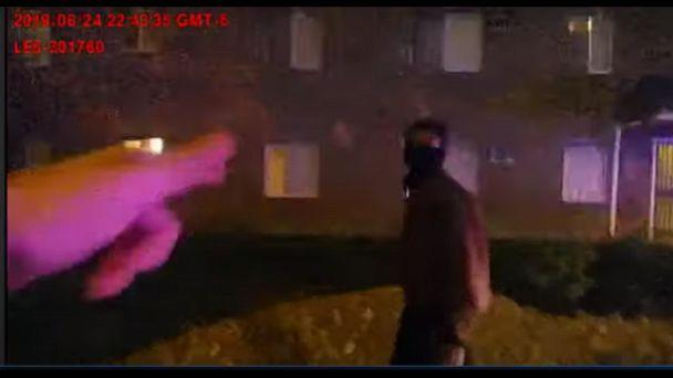 PHOTO: The Aurora Police Department released this body cam footage with the description 'This is the Body Worn Camera footage from the August 24, 2019 contact with Elijah McClain.' (Aurora Police Department/Youtube)