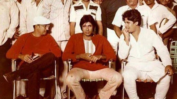 Amitabh Bachchan back on the sets of <i>Coolie </i>in 1983.