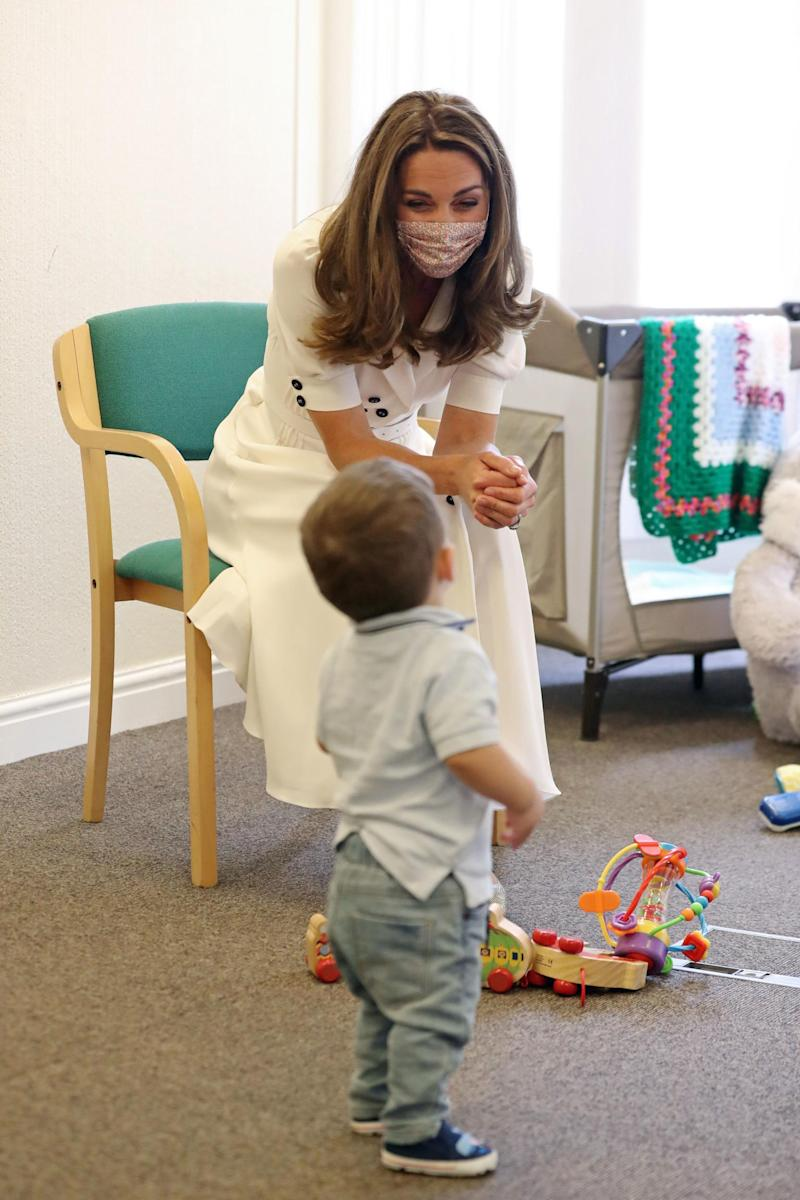 The Duchess of Cambridge during a visit to Baby Basics UK in Sheffield (PA)