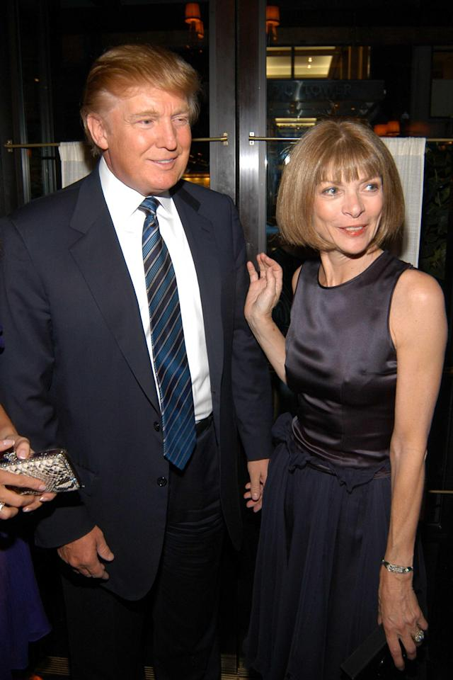 Donald Trump and Anna Wintour in 2005. (Photo: Patrick McMullan/Getty Images)