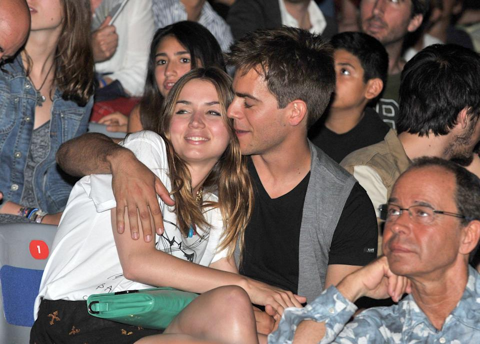 BARCELONA, SPAIN - JUNE 08:  Marc Clotet and Ana de Armas attend a charity concert against AIDS at Palau Sant Jordi on June 8, 2012 in Barcelona, Spain.  (Photo by Europa Press/Europa Press via Getty Images)