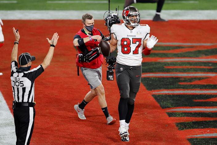 TE Rob Gronkowski will spend a second season with the Buccaneers.