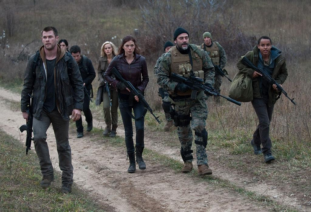 "Chris Hemsworth. Jeffrey Dean Morgan, Josh Hutcherson, Isabel Lucas and Adrianne Palicki in Open Road Film's ""Red Dawn"" - 2012"