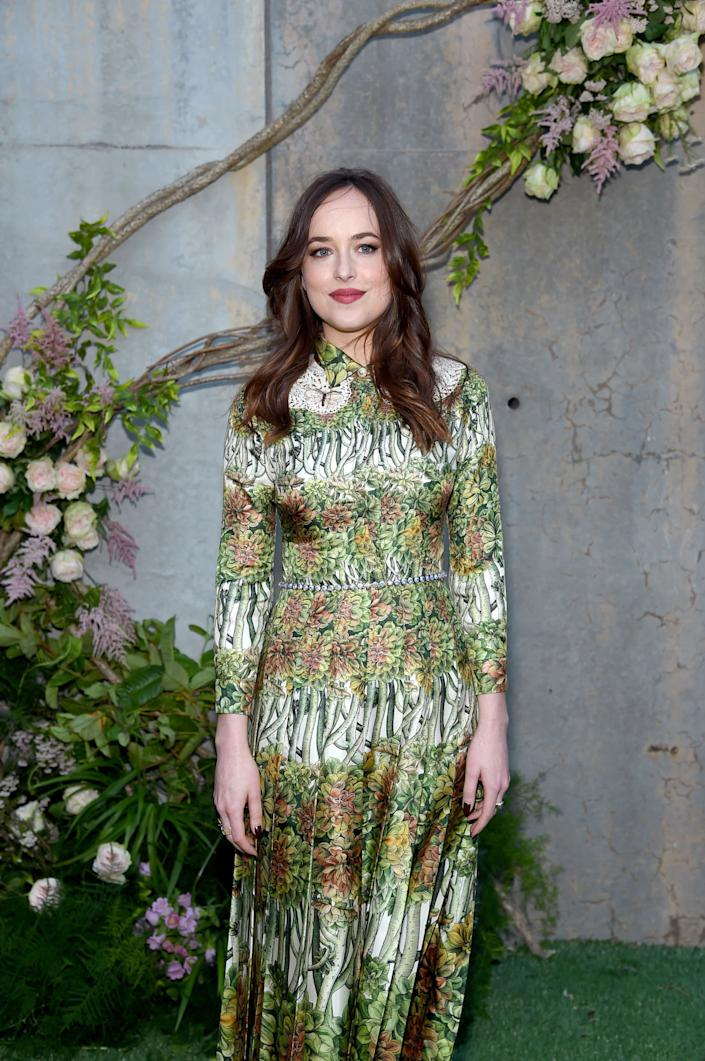 Dakota Johnson attends the Gucci Bloom, Fragrance Launch Event at MoMA PS.1 on May 2, 2017 in New York City.