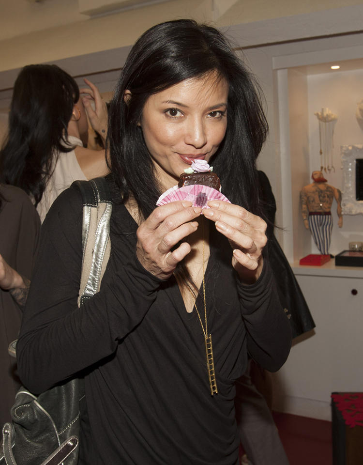 BEVERLY HILLS, CA - FEBRUARY 12:  Kelly Hu attends Verameat Store Opening on February 12, 2013 in Beverly Hills, California.  (Photo by Michael Bezjian/WireImage)