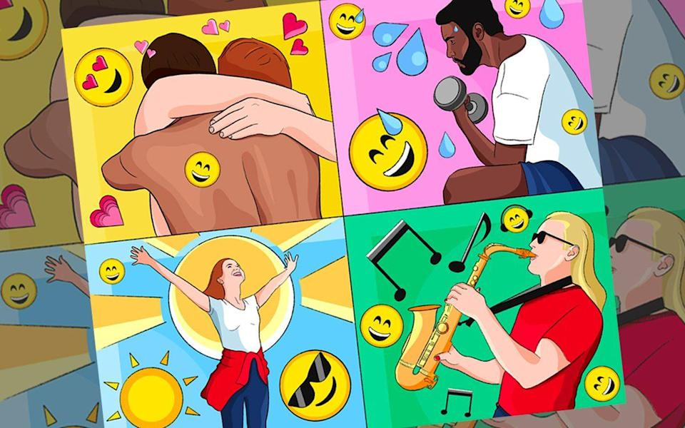 Feelings of wellbeing and happiness are largely driven by four brain chemicals