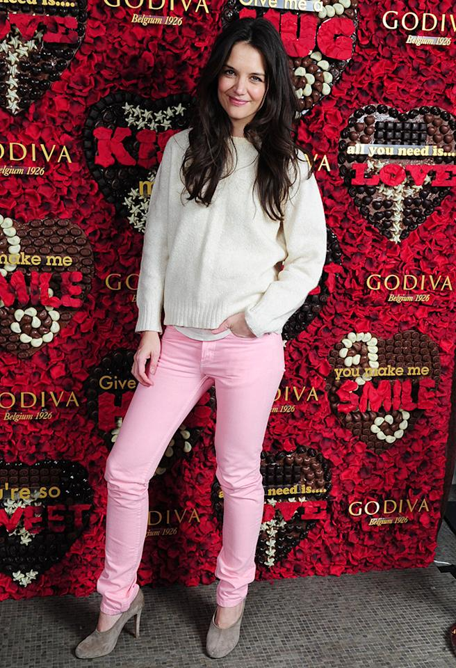 Katie Holmes Visited the GODIVA Boutique at Rockefeller Center to Unveil the GODIVA Share the Love Sweepstakes and the GODIVA Chocolate Photo Booth