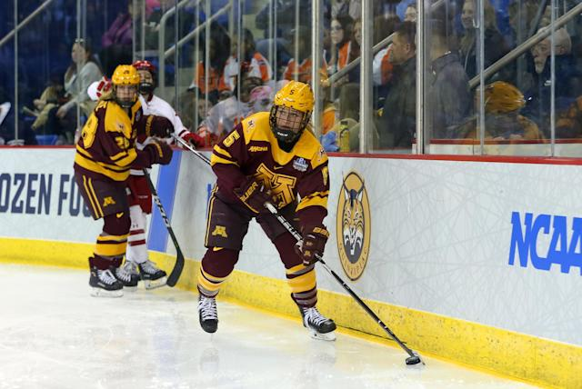 Best sport: women's hockey. Trajectory: steady. The Gophers, unsurprisingly, are a winter sports power, racking up the fifth-most points in the country in that category. That's despite a recent downturn in the bedrock sport of men's hockey, which has missed the last two NCAA tournaments. Minnesota made up for it with strong seasons in women's hockey (national runner-up), both men's and women's gymnastics, and wrestling.
