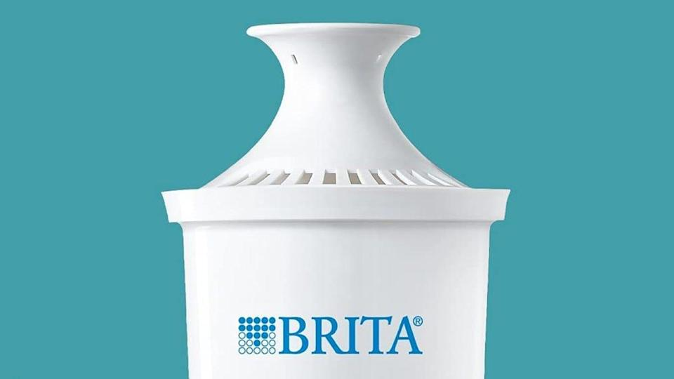 You can get a three-pack of these Brita water filters for less than $10 at Amazon.