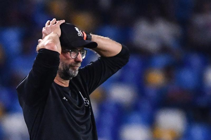 Jurgen Klopp saw his team fall to a 2-0 defeat. (Credit: Getty Images)