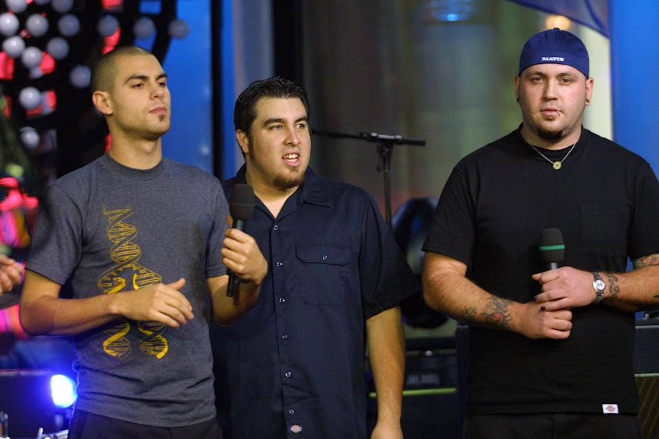 <p>Alien Ant Farm visited the NYC studios of <b>TRL</b> in 2001.</p>