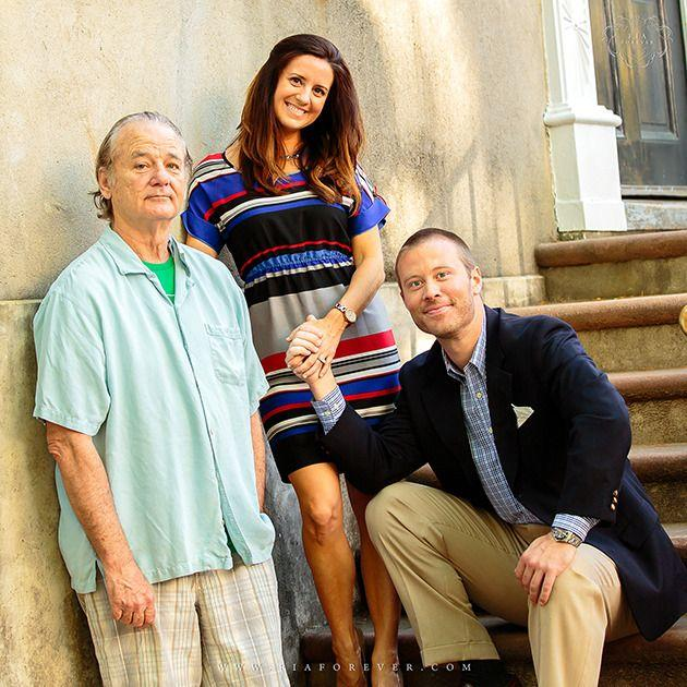 Bill Murray posing with the happy couple. Credit: fiaforever.com/Twitter