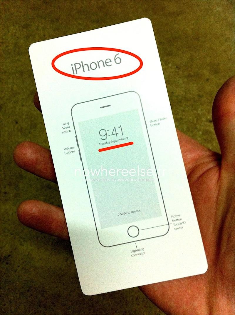 Leaked Document Allegedly Shows Apple Will Unveil iPhone 6 ...