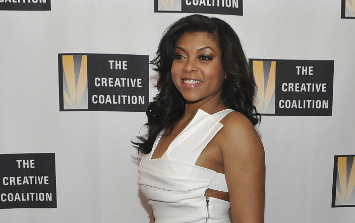 FILE - Taraji Henson arrives at the Creative Coalition Inaugural Ball on Jan. 21, 2013, in Washington. Outside the official events, one of the more prominent galas each inauguration is the Creative Coalition's quadrennial ball, a benefit for arts education. This year, the ball is entirely virtual. (Photo by Larry French/Invision/AP, File)