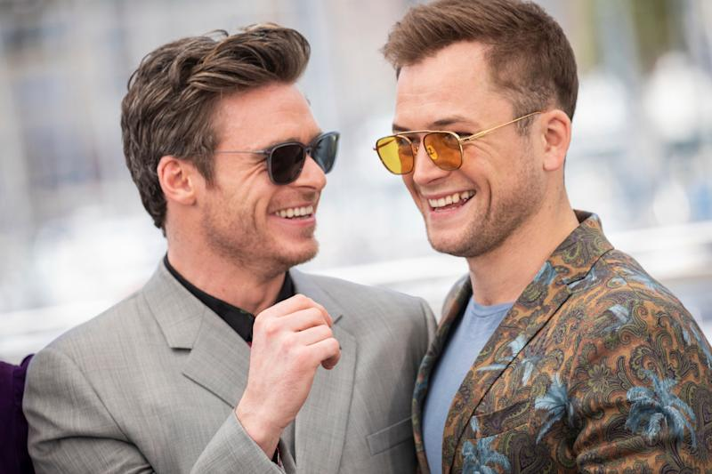 Actors Taron Egerton and Richard Madden pose for photographers at the photo call for the film 'Rocketman' at the 72nd international film festival, Cannes, southern France, Thursday, May 16, 2019. (Photo by Vianney Le Caer/Invision/AP)