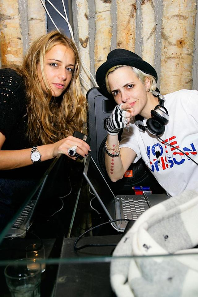 "Charlotte Ronson celebrates her fall collection with an after party, deejayed by her twin sister Samantha Ronson, at Butter in NYC. Mark Von Holden/<a href=""http://www.wireimage.com"" target=""new"">WireImage.com</a> - February 4, 2008"