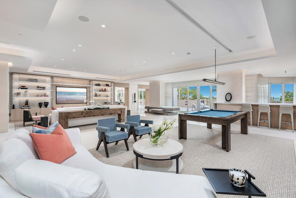 A Fisher Island condominium is going up for auction later this month. Photos provided by Michael Czerepka (UpSpring PR).