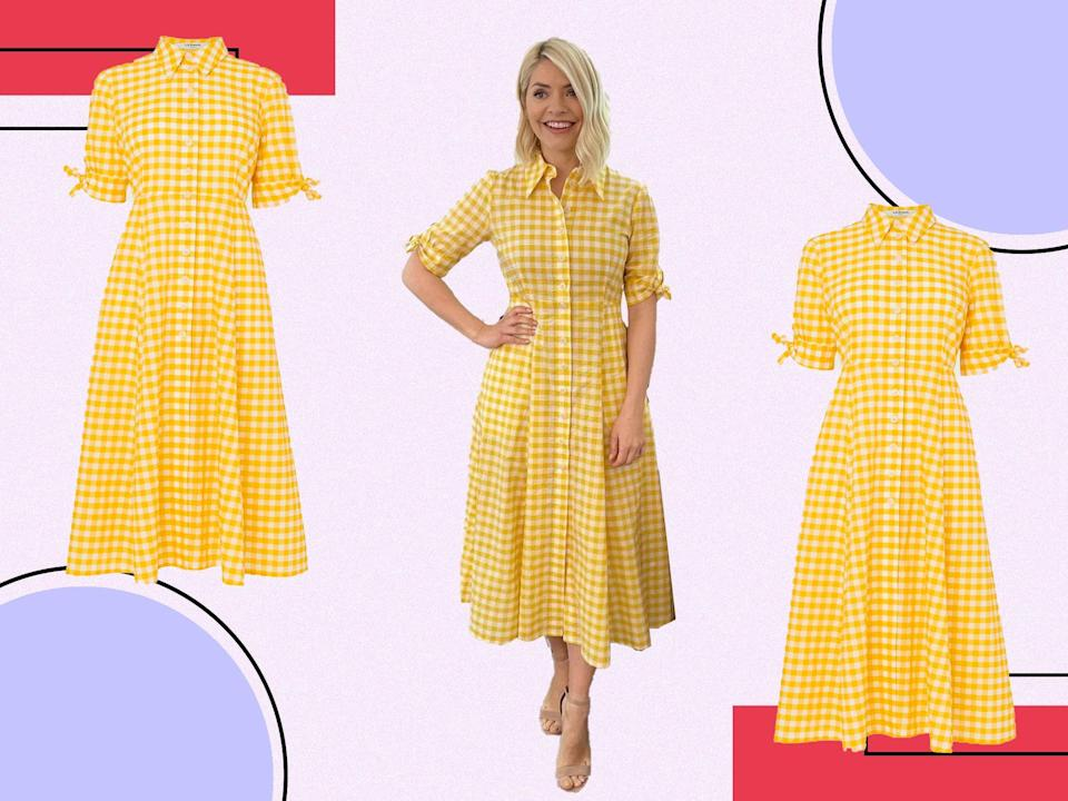 <p>With a nod to the summer months to come, we love this midi</p> (@hollywilloughby/The Independent)