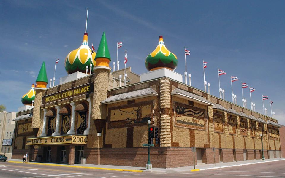 The Corn Palace in Mitchell, South Dakota, is world-famous and attracts more than half a million visitors each year.
