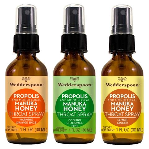 Wedderspoon Debuts New Bee Propolis Throat Spray Line with Monofloral Manuka Honey at Natural Products Expo East 2019
