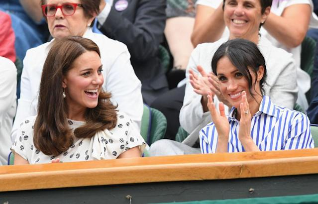 Kate Middleton and Meghan Markle. (Photo: Getty Images)
