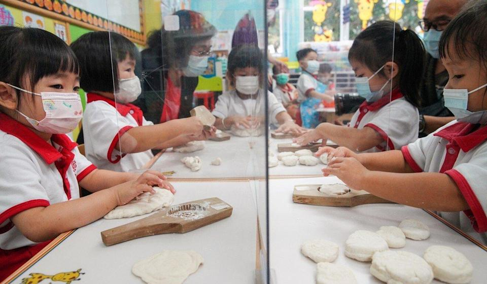 Mooncake making, tea tastings and Chinese opera appreciation are among the activities being used to promote national security. Photo: Winson Wong